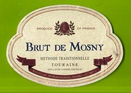 Used Label Champagne, Etichetta Usata Champagne Brut De Mosny.Touraine. Monmousseau. Montrichard- France - Champagne