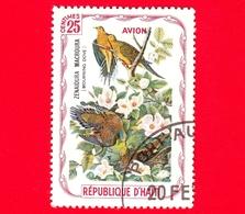 HAITI - Etichetta Fantasia - 1975 - Uccelli - Birds - Oiseaux - Tortora - Zenaida Macroura - 25 - Aerea - Etichette Di Fantasia