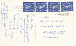 ENGLAND - 4 Fach Frankierung Auf Ak DOVER - 1952-.... (Elisabeth II.)