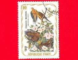 HAITI - Etichetta Fantasia - 1975 - Uccelli - Birds - Oiseaux - Tortora - Zenaida Macroura - 10 - Etichette Di Fantasia