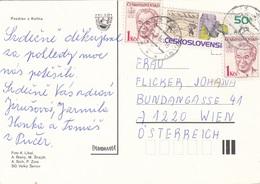 CESKOSLOVENSKO - 3 Fach Frankierung Auf Ak KOLIN - Ganzsachen
