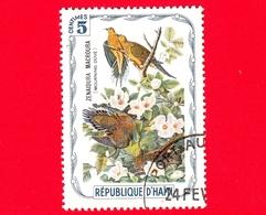 HAITI - Etichetta Fantasia - 1975 - Uccelli - Birds - Oiseaux - Tortora - Zenaida Macroura - 5 - Etichette Di Fantasia