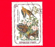 HAITI - Etichetta Fantasia - 1975 - Uccelli - Birds - Oiseaux - Tortora - Zenaida Macroura - 2.50 - Etichette Di Fantasia