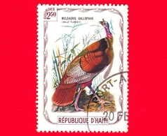 HAITI - Etichetta Fantasia - 1975 - Uccelli - Birds - Oiseaux - Tacchino - Meleagris Gallopavo - 2.50 - Etichette Di Fantasia