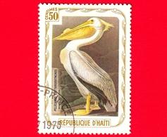 HAITI - Etichetta Fantasia - 1975 - Uccelli - Birds - Oiseaux - Pellicano Bianco - Pelecanus Erythrorhynchos - 50 - Etichette Di Fantasia