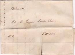 1822 PRECURSOR PRECURSEUR EUGENIO SANTA COLOBA A MAXIMO ZAMUDIO - HISTORIA ARGENTINA RARE - BLEUP - Argentine