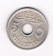 5 MILLIEMES  1917 EGYPTE /'4901/ - Egypte
