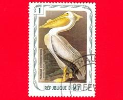 HAITI - Etichetta Fantasia - 1975 - Uccelli - Birds - Oiseaux - Pellicano Bianco - Pelecanus Erythrorhynchos - 1 - Etichette Di Fantasia