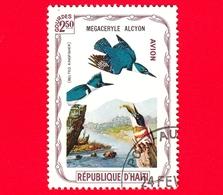 HAITI - Etichetta Fantasia - 1975 - Uccelli - Birds - Oiseaux - Martin Pescatore - Megaceryle Alcyon - 2.50- Aerea - Etichette Di Fantasia