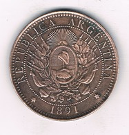 DOS CENTAVOS 1891  ARGENTINIE /4905/ - Argentine