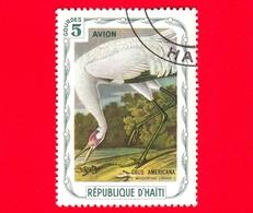 HAITI - Etichetta Fantasia - 1975 - Uccelli - Birds - Oiseaux - Gru - Grus Americana - 5 - Etichette Di Fantasia