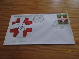 Enveloppe 1er Jour Saint-Pierre Et Miquelon Donneurs De Sang 15 Oct 74 - St.Pierre Et Miquelon