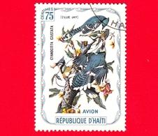 HAITI - Etichetta Fantasia - 1975 - Uccelli - Birds - Oiseaux - Giandaia Azzurra - Cyanocitta Cristata - 75 - Aerea - Etichette Di Fantasia
