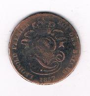 2 CENTIMES  1857   BELGIE /4907/ - 02. 2 Centimes