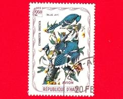 HAITI - Etichetta Fantasia - 1975 - Uccelli - Birds - Oiseaux - Giandaia Azzurra - Cyanocitta Cristata - 2.50 - Aerea - Etichette Di Fantasia