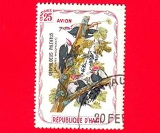 HAITI - Etichetta Fantasia - 1975 - Uccelli - Birds - Oiseaux - Ceophloeus Pileatus - 25 - Aerea - Etichette Di Fantasia