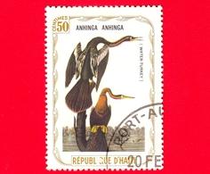 HAITI - Etichetta Fantasia - 1975 - Uccelli - Birds - Oiseaux - Aninga - Anhinga Anhinga - 50 - Etichette Di Fantasia
