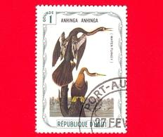 HAITI - Etichetta Fantasia - 1975 - Uccelli - Birds - Oiseaux - Aninga - Anhinga Anhinga - 1 - Etichette Di Fantasia