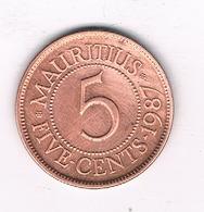 5 CENTS 1987 MAURITIUS /4911/ - Maurice