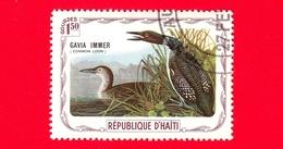 HAITI - Etichetta Fantasia - 1975 - Uccelli - Birds - Oiseaux - Strolaga Maggiore - Gavia Immer - 1.50 - Etichette Di Fantasia