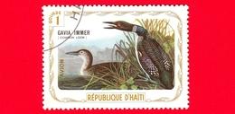 HAITI - Etichetta Fantasia - 1975 - Uccelli - Birds - Oiseaux - Strolaga Maggiore - Gavia Immer - 1 - Aerea - Etichette Di Fantasia