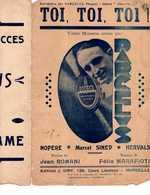 CAF CONC DARCELYS VALSE MUSETTE MARSEILLE PROVENCE PARTITION TOI TOI TOI ROMANI FÉLIX MARAFIOTI GIRY FERNANDEL - Other