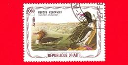 HAITI - Etichetta Fantasia - 1975 - Uccelli - Birds - Oiseaux - Smergo Maggiore - Mergus Merganser - 2.50 - Aerea - Etichette Di Fantasia
