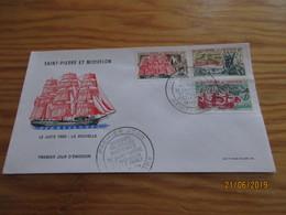 Enveloppe 1er Jour Saint-Pierre Et Miquelon Anciennes Relations Maritimes 13.10.69 - St.Pierre Et Miquelon