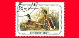 HAITI - Etichetta Fantasia - 1975 - Uccelli - Birds - Oiseaux - Anatre - Anas Platyrhynchos - 5 - Etichette Di Fantasia