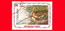 HAITI - Etichetta Fantasia - 1975 - Uccelli - Birds - Oiseaux -  Chiurlo - Numenius Americanus - 50 - Aerea - Etichette Di Fantasia
