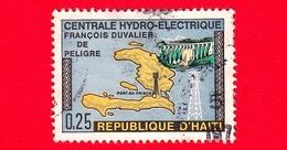HAITI - Usato - 1970 - Mappa - Centrale Idroelettrica Francois Duvalier -  0.25 - Haiti