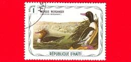 HAITI - Etichetta Fantasia - 1975 - Uccelli - Birds - Oiseaux - Smergo Maggiore - Mergus Merganser - 1 - Etichette Di Fantasia