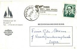 FIRMAKAART     METALAM          BRUSSEL-----POPERINGE   E      1966 - Belgique