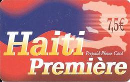 CARTE- PREPAYEE-7,50€-HAITI-30/10/2004-GRATTE-TBE-RARE - Haiti