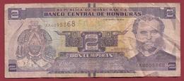 Honduras 2 Lempiras 2012 Dans L 'état - Honduras