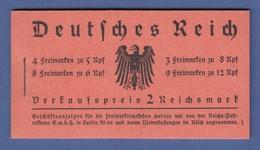 Deutsches Reich 1933 Hindenburg Mit Wz. Waffeln Markenheftchen MH 33 ** - Deutschland