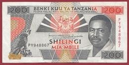 Tanzanie 200 Shilingi 1993 (sign 11) Dans L 'état - Tanzania