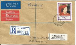 St. Helena 1986, 65d Auf Einschreiben Eilboten Brief V. Jamestown - Saint Helena Island