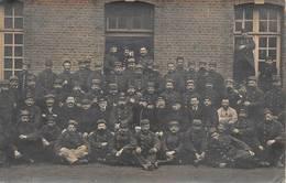 Amiens Gare Régulatrice Cachet Guerre 1914 Carte Photo - Amiens