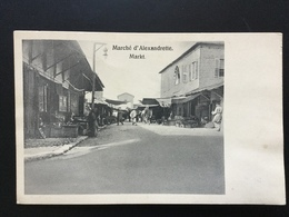 Marché D'Alexandrette Markt 1918 - Turquie