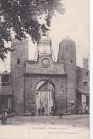 CPA : Camaret  (84) Portail Du Midi   Belle Horloge  Affiche Amer  Picon   Ed Brun Et Cie - Camaret Sur Aigues