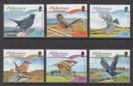 2007 Alderney Birds Oiseaux Complete Set Of 6 MNH - Alderney