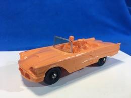 Tomte Laerdal Norway N.16 FORD THUNDERBIRD Auto In Gomma Arancione - Giocattoli Antichi