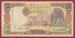 Syrie 50 Pounds 1998 Dans L 'état - Syria