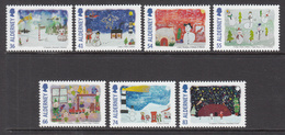 2014 Alderney Christmas Noel Navidad Complete Set Of 7 MNH @ Below Face Value !!! - Alderney