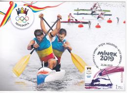 2019 , Moldova , Moldavie , Moldau , Sport European Games - 2019 Minsk , Republic Of Belarus , Maxicard - Moldova