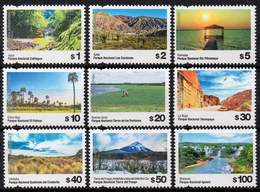 ARGENTINA 2019. Definitives 9 Values, National Parks, Mint NH - Argentinien