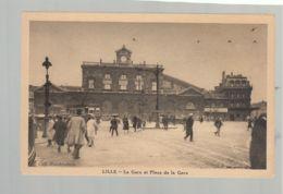 CP (59) Lille - Gare Et Place De La Gare - Lille