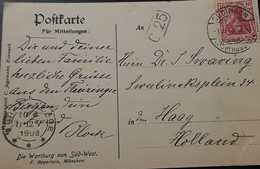 O) 1909 CIRCA - GERMANY, GERMANIA SC 53 3pf, DR TRANKLER CO. LEIPZIG - VALLEY- LANDSCAPE, POSTAL CARD XF - Germany
