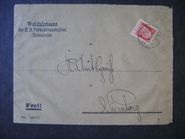 GERMANY (BAYERN) - ENVELOPE SEAL WITH PERFIN / PERFIM IN THE STATE - Deutschland